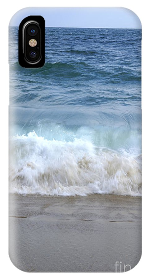 Big IPhone X Case featuring the photograph Wave Crashing On The Beach by SAJE Photography
