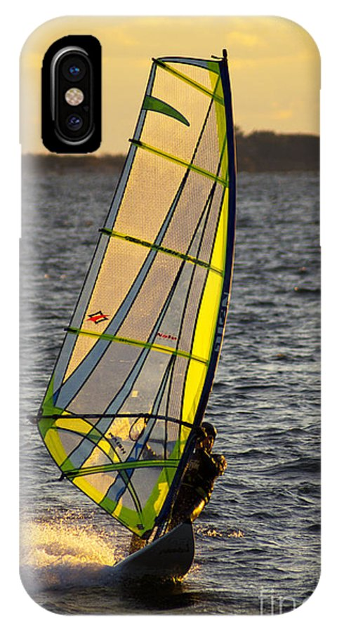 Wind IPhone X Case featuring the photograph Wave Runner by Joe Geraci