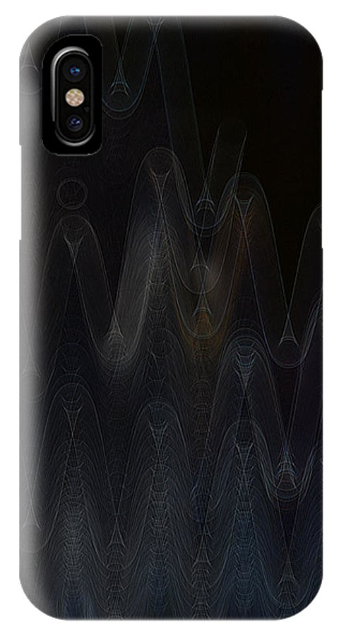Digital Art IPhone X Case featuring the digital art Wave Spell by Stephan Pabst