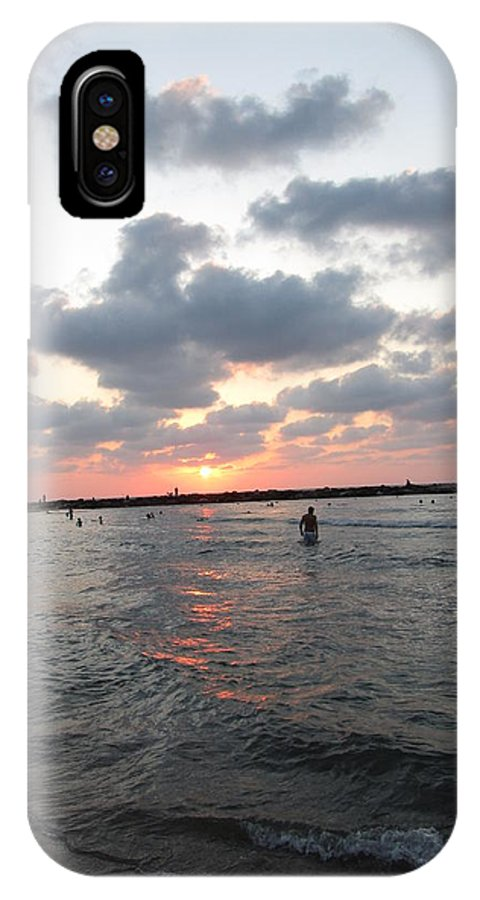 Beach IPhone X Case featuring the photograph Waves And Sky by Daniel Benatar