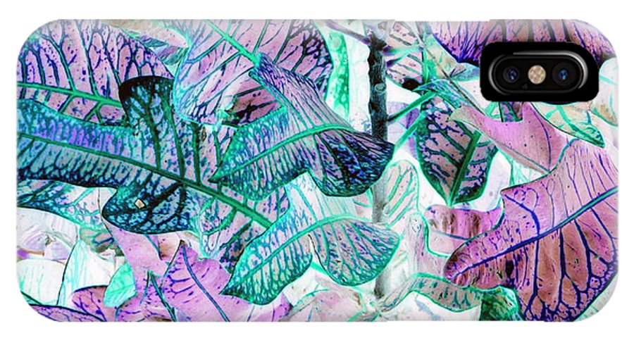 Leaves IPhone X Case featuring the photograph Waves Of Wonder by Debi Singer