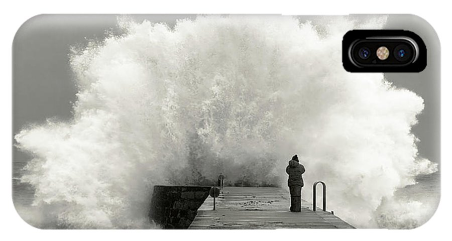 Landscape IPhone X Case featuring the photograph Waves Photographer by Mikel Lastra
