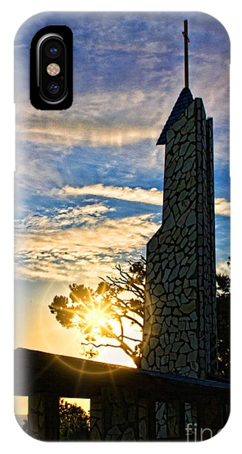 Southern California's IPhone X Case featuring the photograph wayfarers Chapel 10 by Tommy Anderson