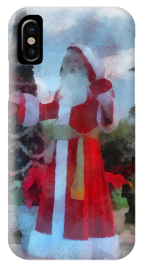Christmas IPhone X Case featuring the photograph Wdw Santa Photo Art by Thomas Woolworth
