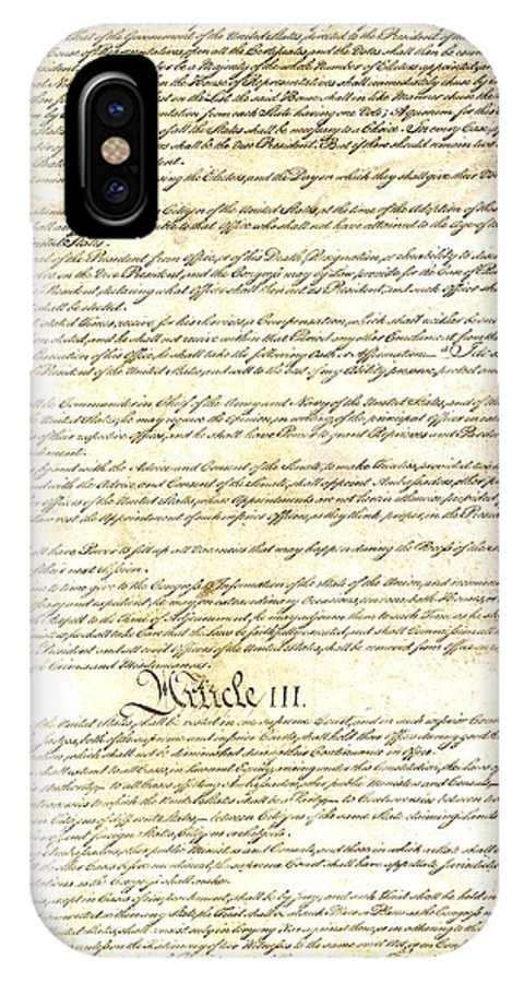 Constitution IPhone X Case featuring the photograph We The People Constitution Page 3 by Charles Beeler