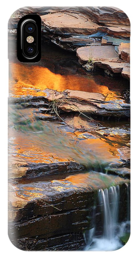 Weano Gorge IPhone X Case featuring the photograph Weano Gorge - Karijini Np 2am-111671 by Andrew McInnes