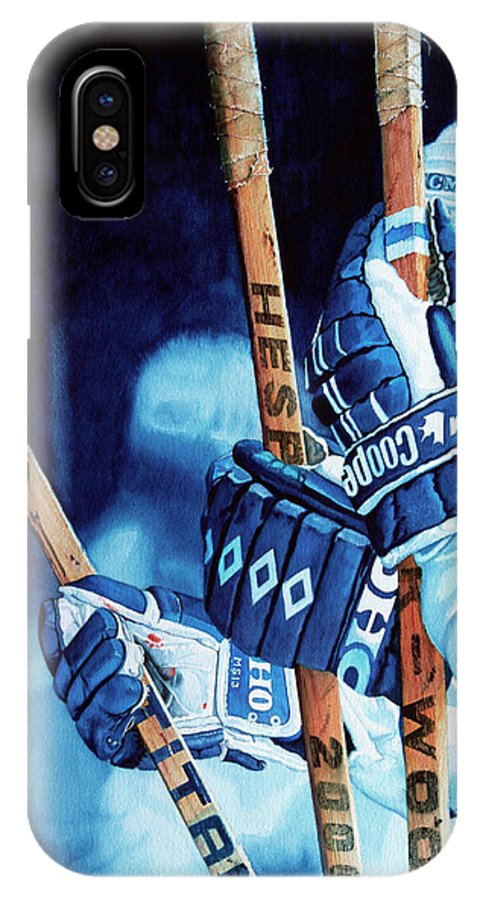 Sports Art IPhone X Case featuring the painting Weapons Of Choice by Hanne Lore Koehler