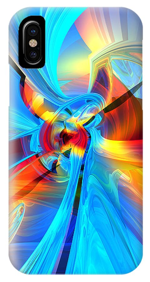 Abstract IPhone X Case featuring the digital art Weather Or Knot H 4 by Zac AlleyWalker Lowing