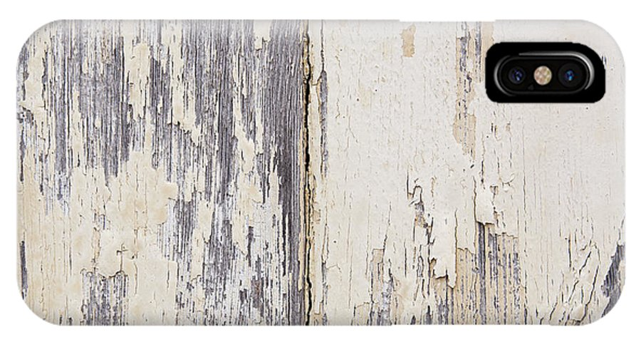 Abstract IPhone X Case featuring the photograph Weathered Paint On Wood by Tim Hester