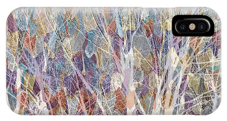 Trees IPhone X Case featuring the mixed media Web Of Branches by Ruth Palmer