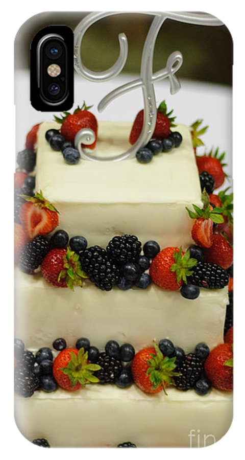 Wedding Cake With Fruit Iphone X Case For Sale By Paul Sisco