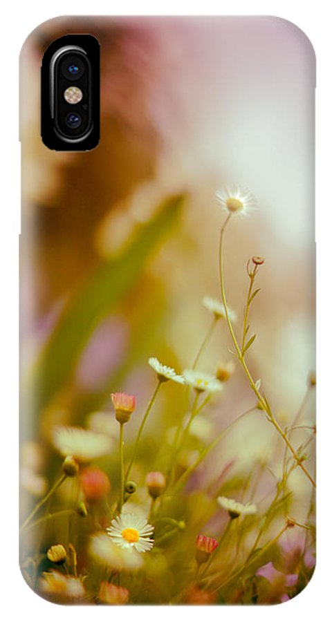 Flower IPhone X Case featuring the photograph Weeded Desire - Light by Jamian Stayt