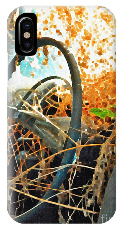 Steering IPhone X Case featuring the photograph Weedy Steering by Gwyn Newcombe