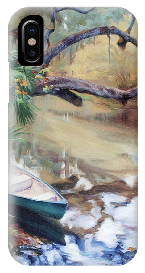 Wekiva IPhone X Case featuring the painting Wekiva Autumn by Laura Bates