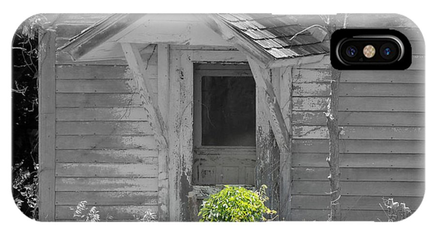 Old House IPhone X Case featuring the photograph Welcome by Lynn Sprowl