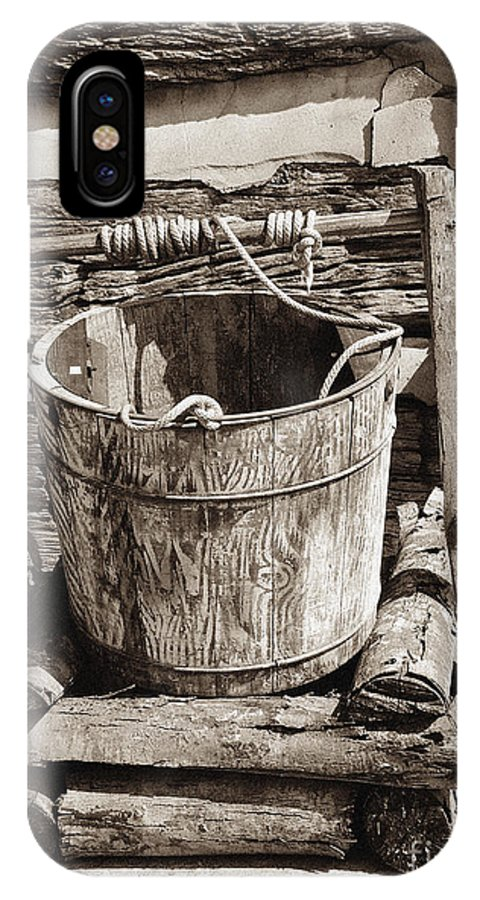 Americana IPhone X Case featuring the photograph Well Bucket by  Joe Beasley
