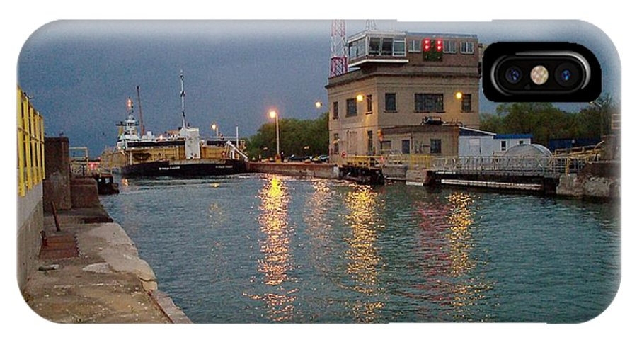 Canal IPhone Case featuring the photograph Welland Canal Locks by Barbara McDevitt