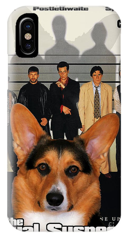 Welsh Corgi Pembroke IPhone X Case featuring the painting Welsh Corgi Pembroke Art Canvas Print - The Usual Suspects Movie Poster by Sandra Sij