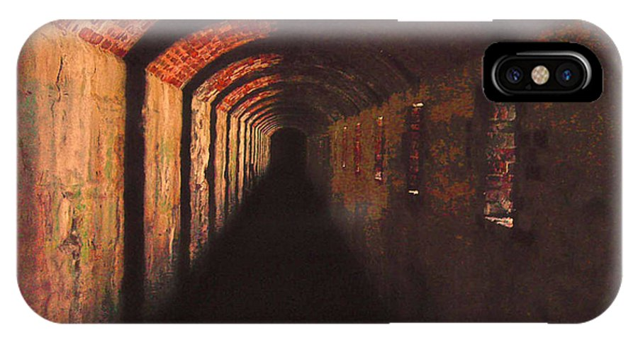 Tunnel IPhone X Case featuring the photograph Went Deeper Into Black by K Hines