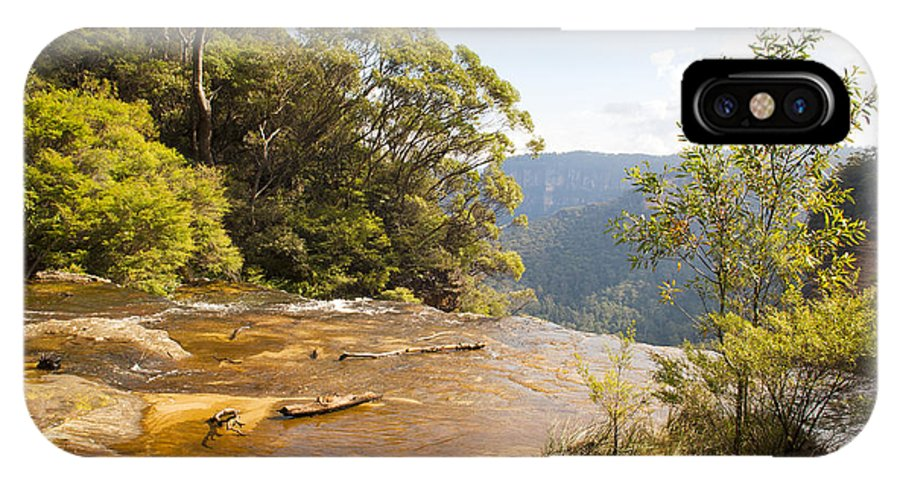 Australia IPhone X Case featuring the photograph Wentworth Falls by Tim Hester
