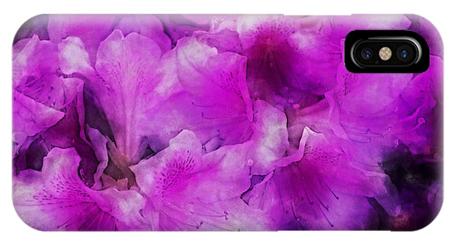 Flowers IPhone X Case featuring the digital art wers 2078 Traveling Pigments HP by David Lange