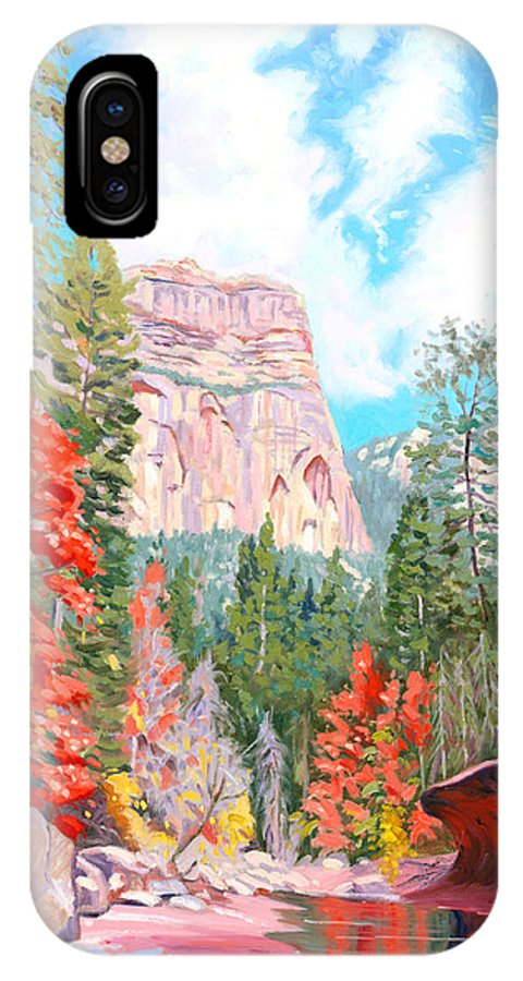 Sedona IPhone X Case featuring the painting West Fork - Sedona by Steve Simon