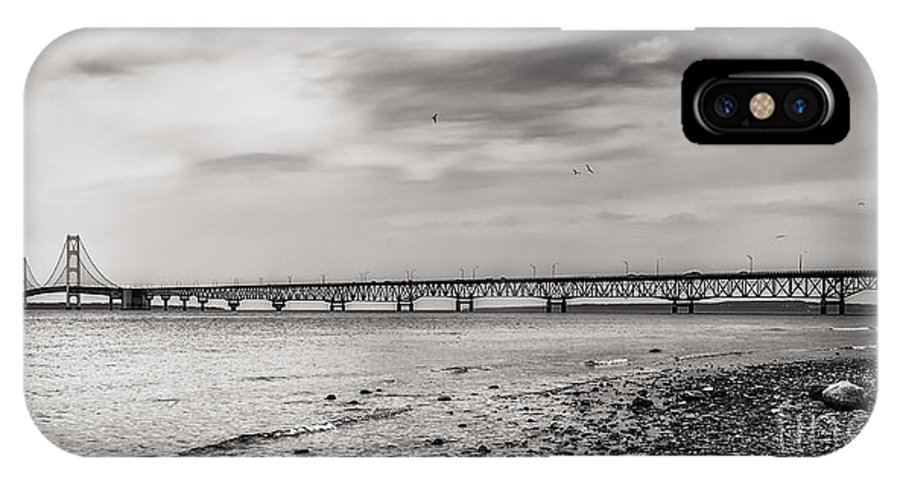 Mackinac IPhone X Case featuring the photograph West Of Mackinac Bridge by Jonathan Virgie