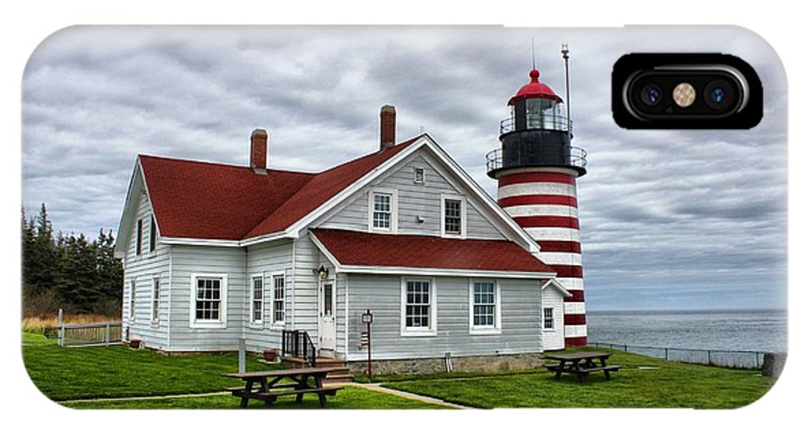 Father's Day IPhone X Case featuring the photograph West Quoddy 4216 by Joseph Marquis