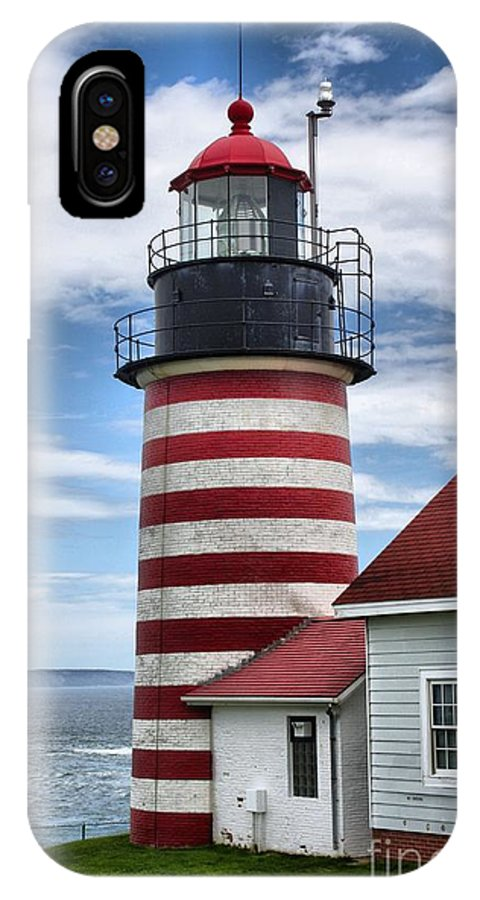 Father's Day IPhone X Case featuring the photograph West Quoddy 4226 by Joseph Marquis
