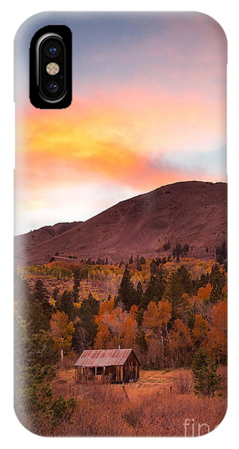 Michele IPhone X Case featuring the photograph Western Barn At Sunset I by Michele Steffey