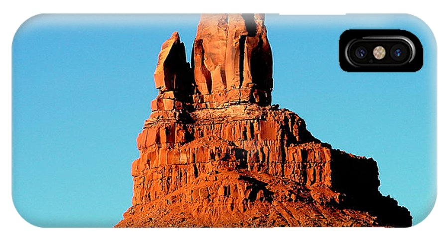 Western Desert IPhone X Case featuring the photograph Western Usa Rock by John Potts
