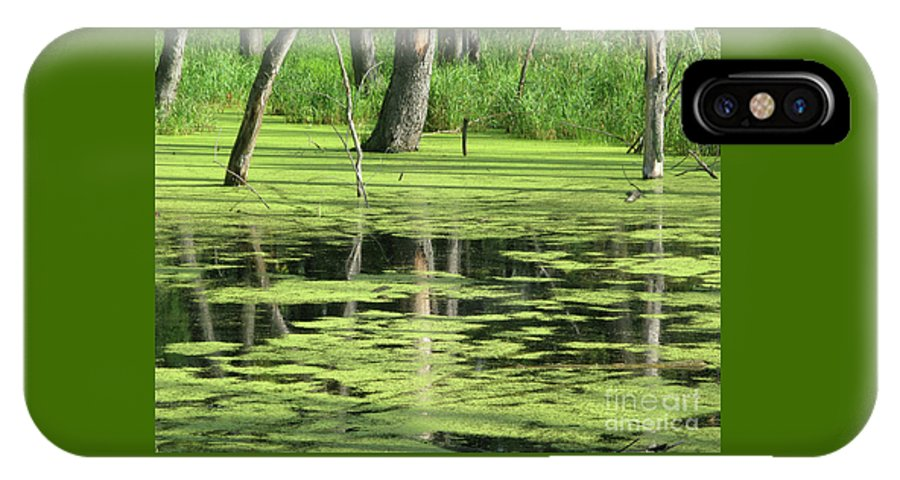 Landscape IPhone X / XS Case featuring the photograph Wetland Reflection by Ann Horn