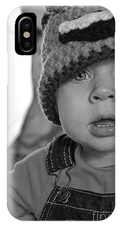 Black And White IPhone X Case featuring the photograph What's That by Baywest Imaging
