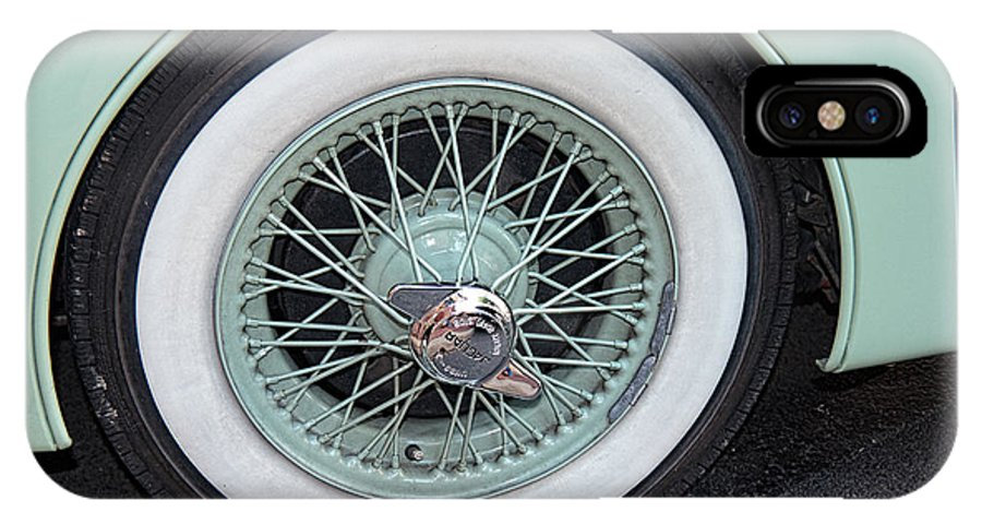Vintage Car IPhone X Case featuring the photograph Wheels by Brenda Hackett