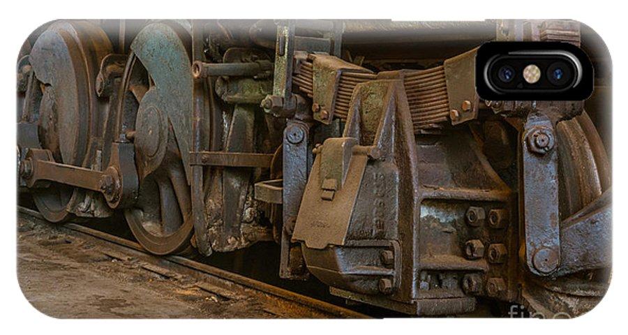 Railtown IPhone X Case featuring the photograph Wheels by Daniel Ryan