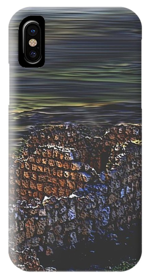 Landscape IPhone X Case featuring the digital art When- that were palaces... by Dr Loifer Vladimir