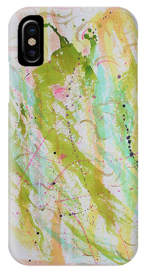 Abstract Painting IPhone X Case featuring the painting When The Saints Come Marchin In by Asha Carolyn Young