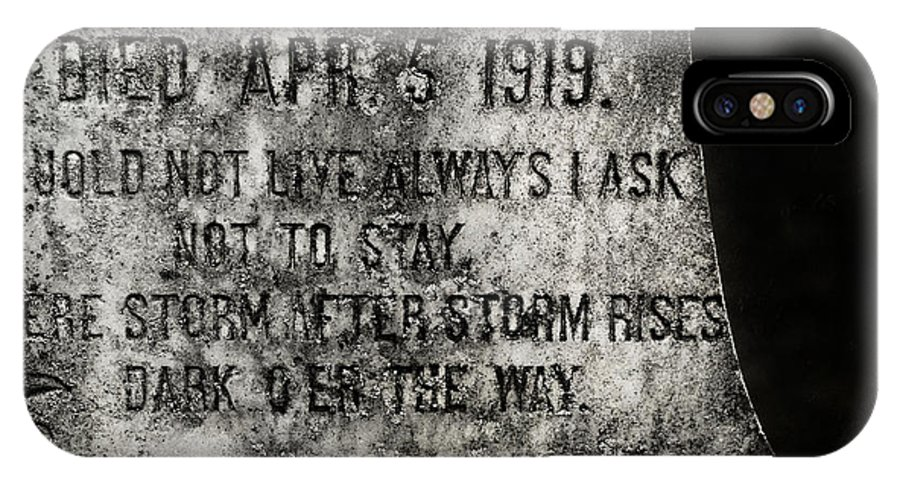 Gravestone IPhone X Case featuring the photograph Where Dark Storms Rise by Rebecca Sherman