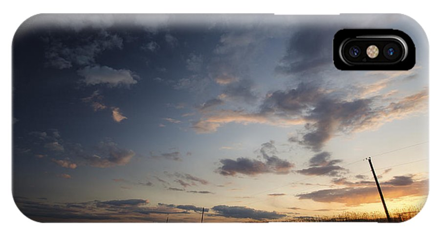 2013 IPhone X Case featuring the photograph Where Day Meets Dark by Benjamin DeHaven