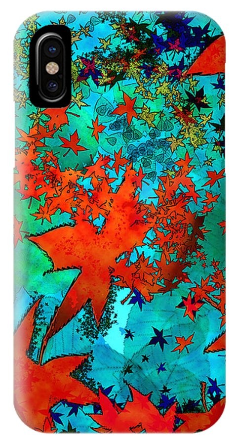 Landscape IPhone X Case featuring the digital art Where Do Leaves Go by Sladjana Lazarevic