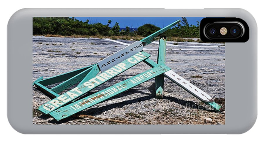 Ironic Sign Humor Travel Island Destination Bahamas Island Unusual Subject Stirrup Cay Sign Wry Title Outdoors Whimsical Capture Collectible Canvas Print Poster Print Metal Frame Available On Greeting Cards T Shirts Tote Bags Pouches Weekender Tote Bags Shower Curtains Mugs And Phone Cases IPhone X Case featuring the photograph Where's The Duty Free? by Marcus Dagan