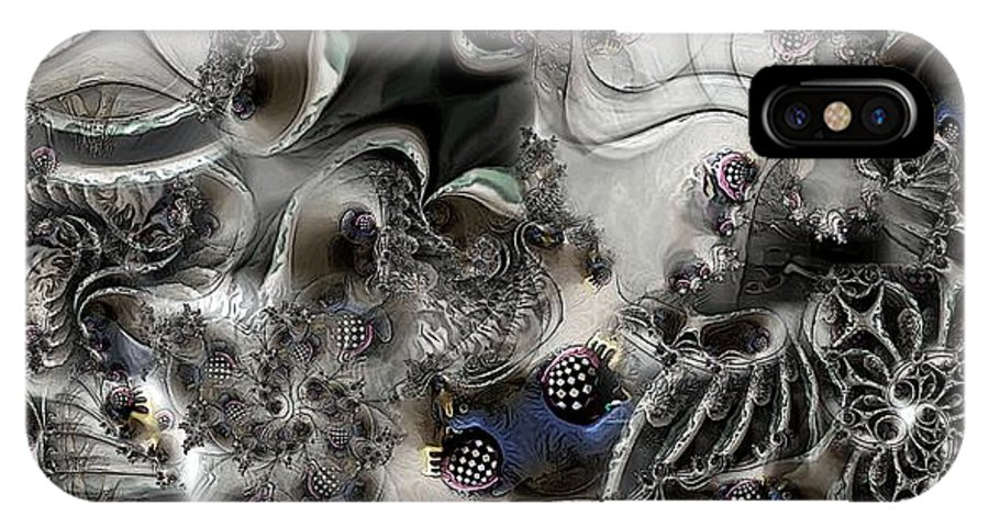Collage-collage IPhone X Case featuring the digital art Whirl Twirl Swirl by Ron Bissett