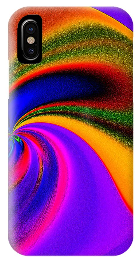 Abstract IPhone X Case featuring the photograph Whirling Dervish by Terril Heilman