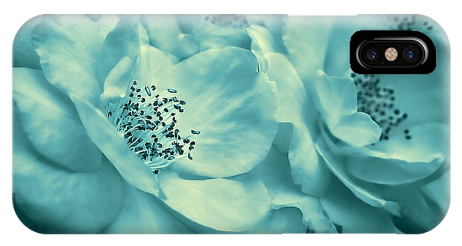 Rose IPhone X Case featuring the photograph Whispers Of Teal Roses by Jennie Marie Schell
