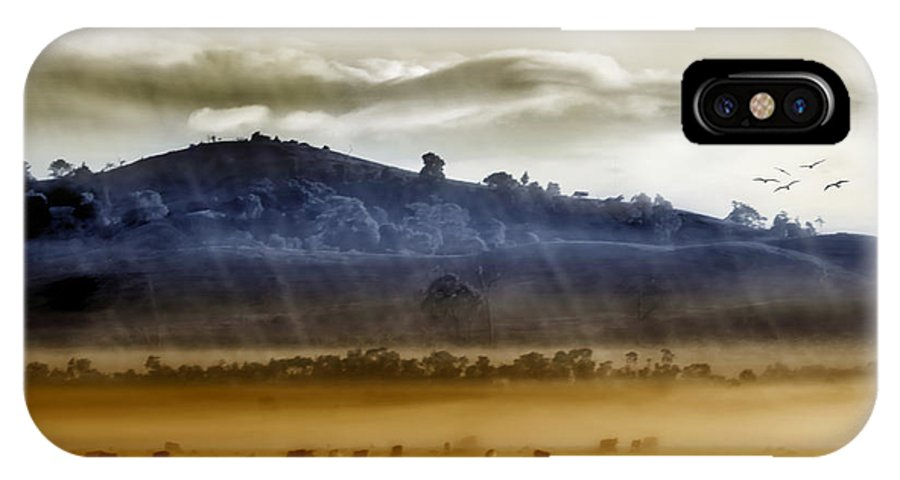 Landscapes IPhone X Case featuring the photograph Whisps Of Velvet Rains... by Holly Kempe