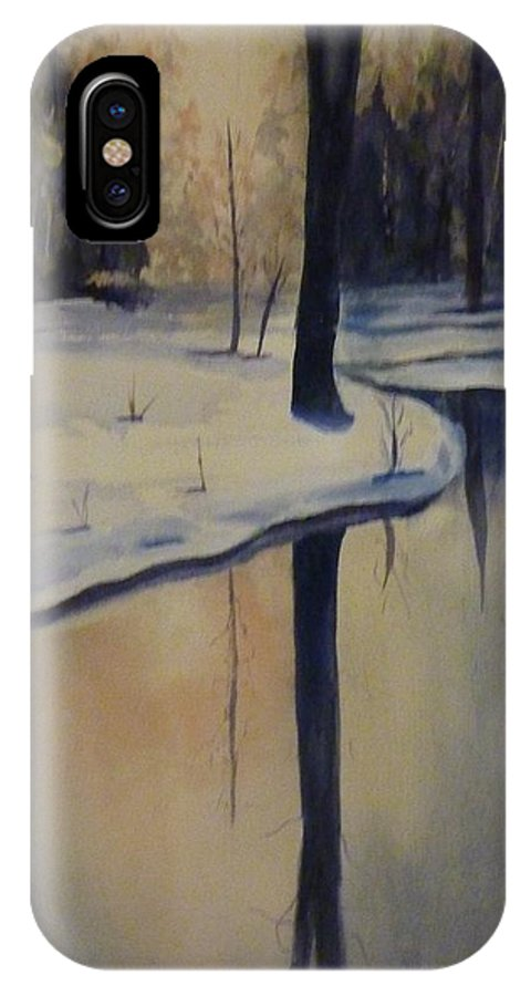 Landscape IPhone X Case featuring the painting Whistler Too by Tanya Lemma