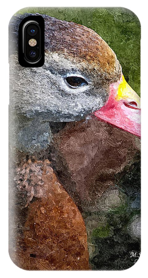 Whistling Duck IPhone X Case featuring the photograph Whistling Duck by Michael Kennedy