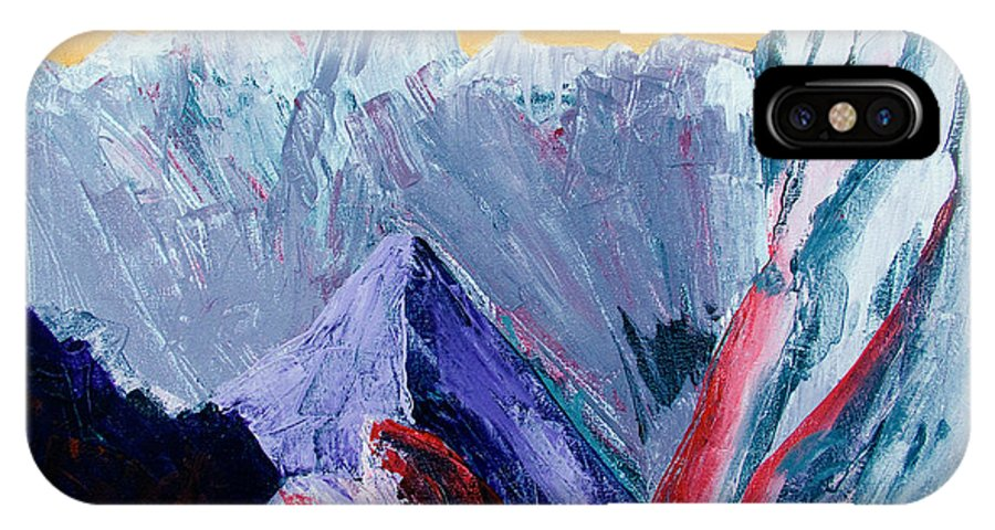 Mountains Painting IPhone X Case featuring the painting White Canyon by Kandyce Waltensperger