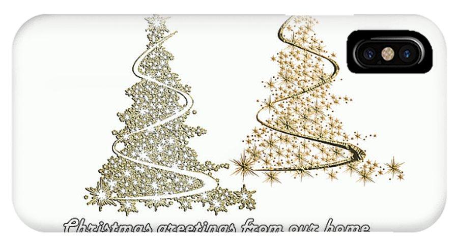 Christmas_tree IPhone X Case featuring the digital art White Christmas by Randi Grace Nilsberg