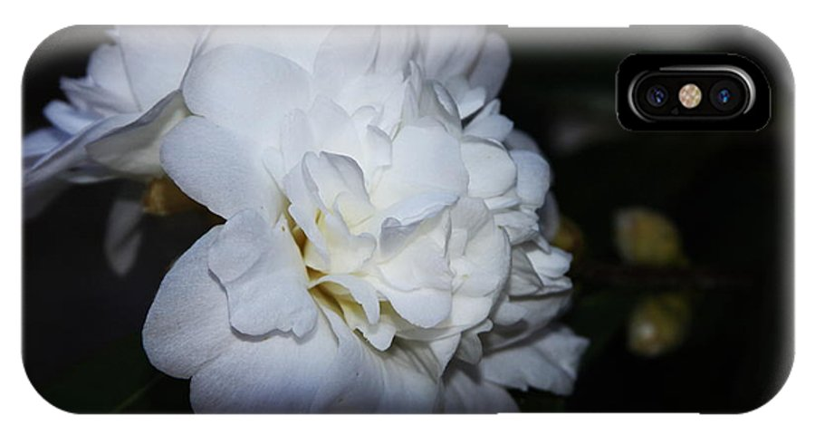 IPhone X Case featuring the photograph White Flower by Nicholas Pullano